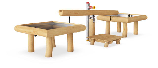 Water Seesaw with 2 Splash Tables