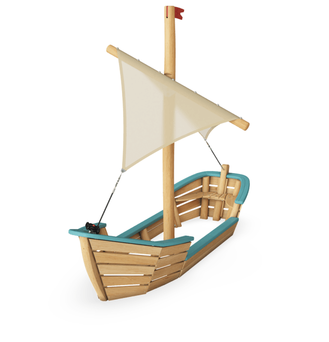 Oasis Sand Boat with Sail