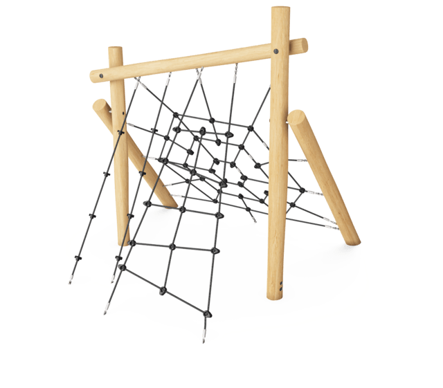Robinia obstacle - Op en over klimnet M
