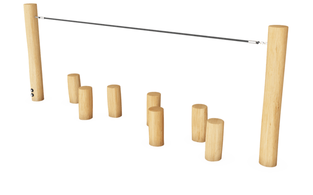 Balance Posts with Rope