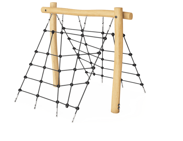 Robinia obstacle element - Op en over klimnet L