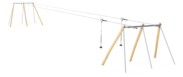 Double Cableway for Level Ground