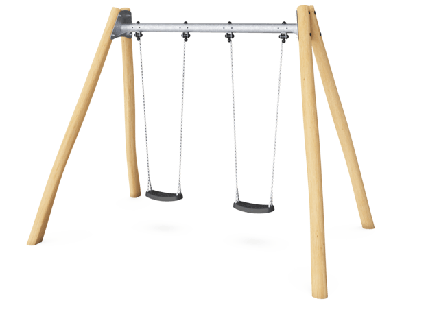 Two Seat Swing, with steel cross beam