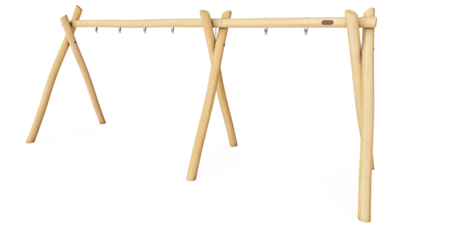 Swing frame for 3 seats