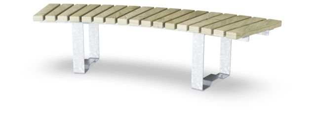Rumba Bench, Curved, 45°