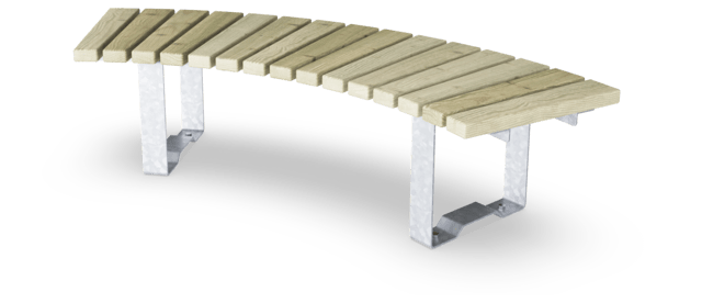 Rumba Bench, Curved, 60°