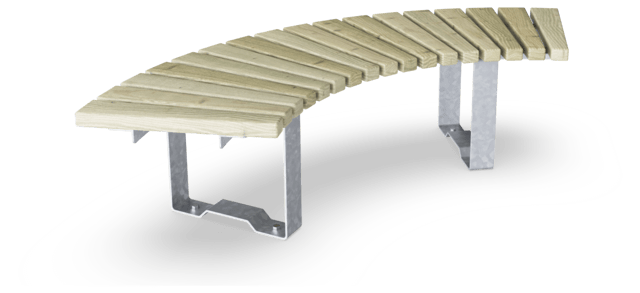Rumba Bench, Curved 90°