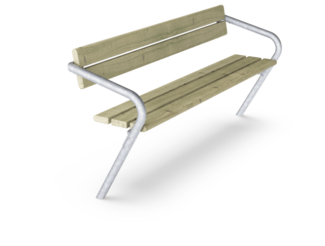 Agora Bench with backrest