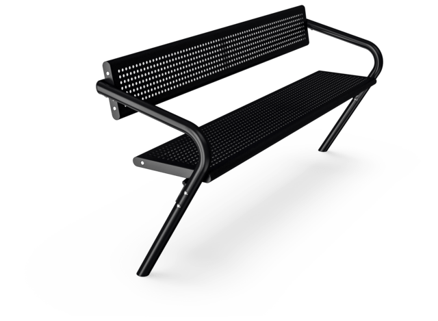 Agora Steel Bench with Backrest
