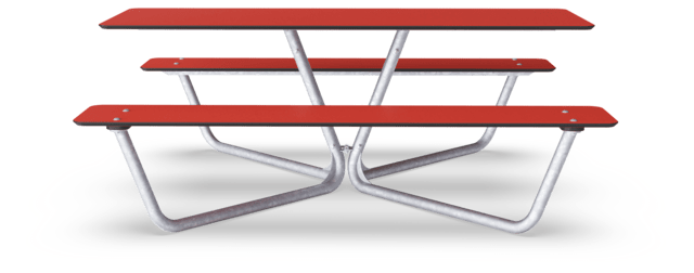 Agora Picnic Table, Red