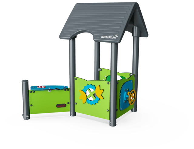 Playhouse with Outside Desk