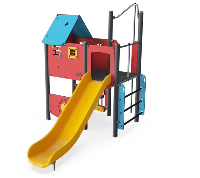 Play Tower with Fireman's Pole & Play Panels