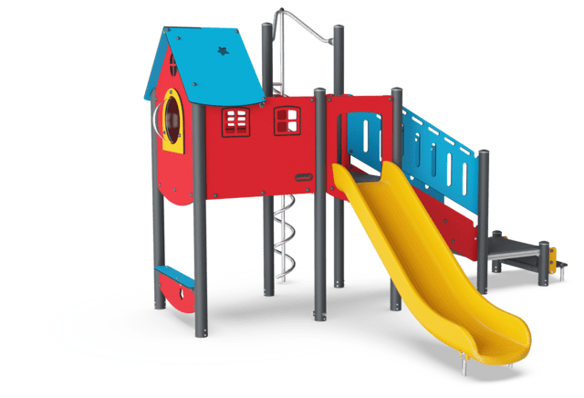 Large Play Tower with Curly climber