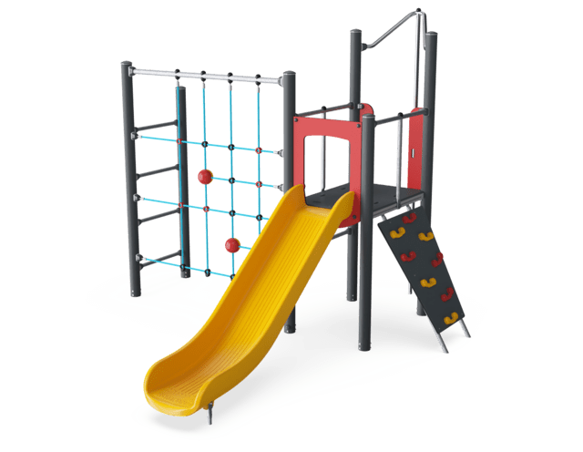 Play Tower with Net & Fireman's Pole