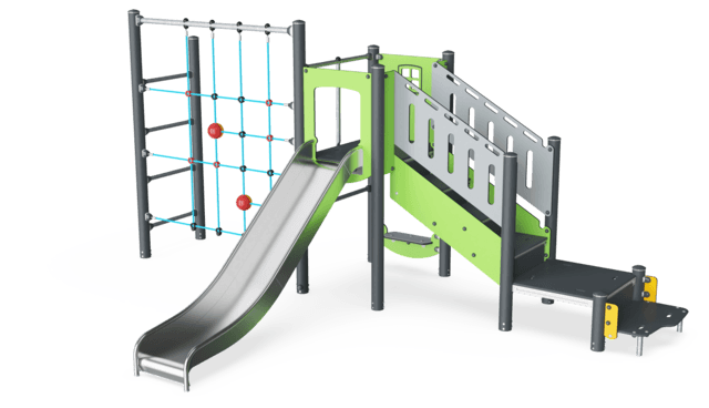 Play Tower with ADA Stairs & Climbing Net