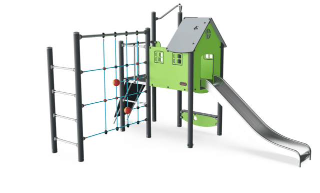 Play Tower with Roof & Climbing Net