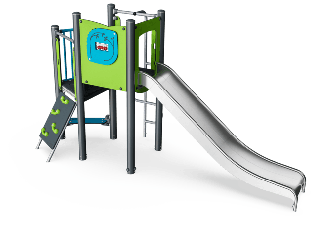 Play Tower with Climbing Pole