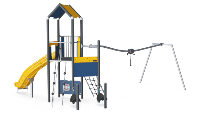 Play Tower with Track Ride, Physical