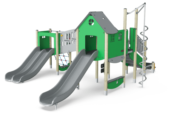 Double Tower, Physical, Double Slide
