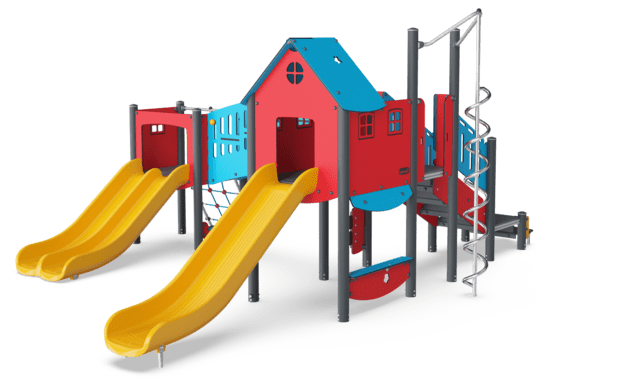 Double Tower with Slides