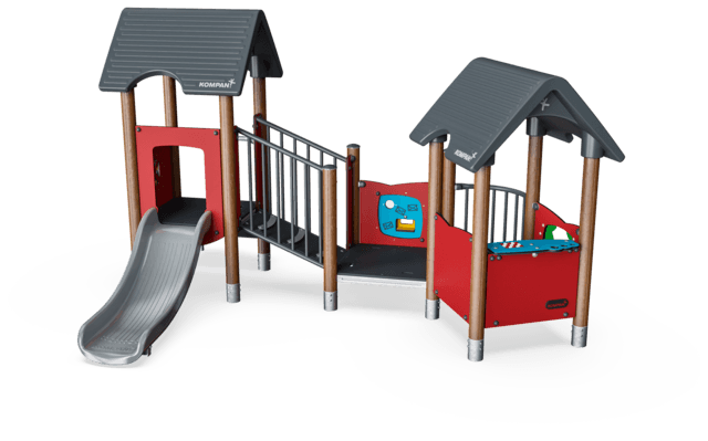 Play Tower & House with Balcony