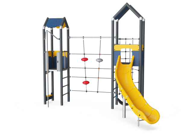 Double Tower & Climbing Net, Physical