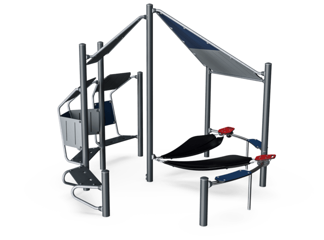 Meeting Point with Movable Hammocks