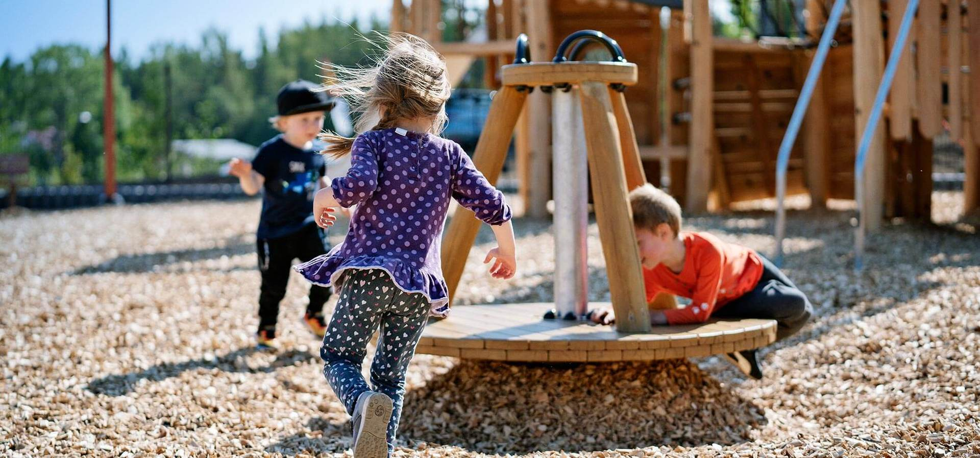 Children need the dizzying input that comes from spinning, sliding and swinging...